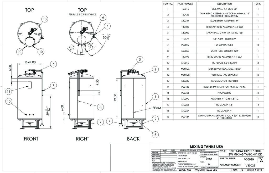 Liquid Mixing Tanks